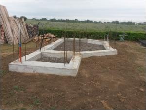 Gradnja kapele na groblju u Tomašancima